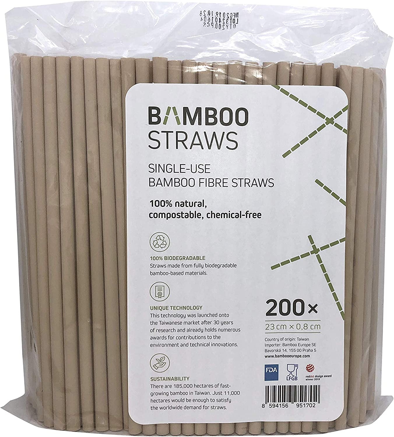 Bamboo Drinking Straws Single Use 200pcs Compostable 100/% Natural Straws Biodegradable Eco Friendly Drinks Disposable Straw Chemical-Free Biodegradable Plastic-Free 8mm X 23 cm