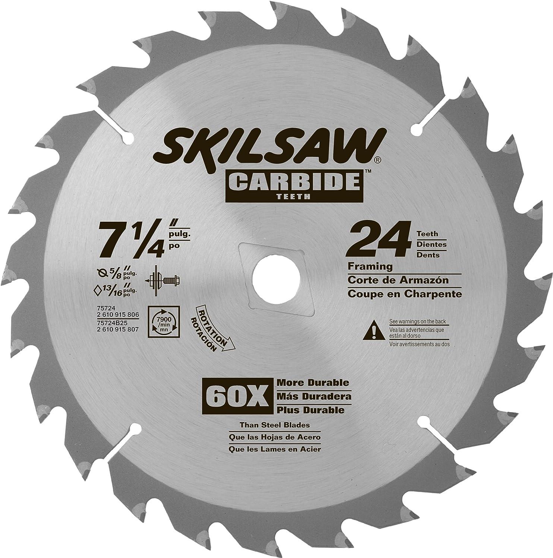 "SKIL 75724 24-Tooth Carbide Circular Saw Blade, 7 1/4"""
