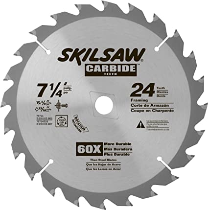Skil 75724 24 tooth carbide circular saw blade 7 14 amazon skil 75724 24 tooth carbide circular saw blade 7 14quot greentooth Gallery