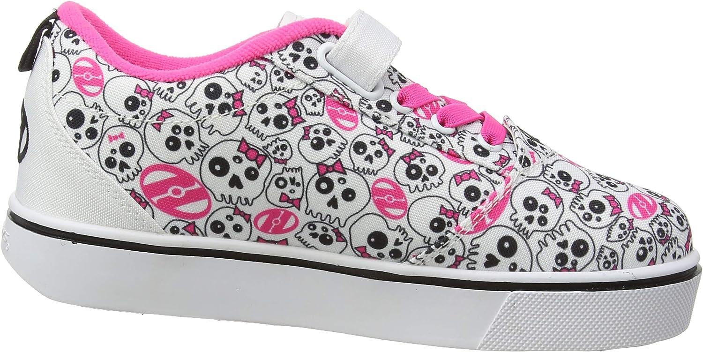 Junior Fille Heelys Gr8 Pro empreintes chaussures de skate en rose-Roues Chaussures De Skate-Toutes Les