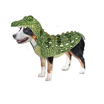 Amazon.com: Cocodrilo Verde realista perro – Disfraz para ...