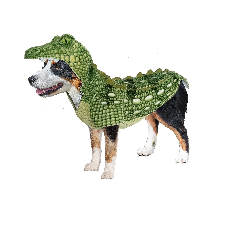 Mini Amazing Pet Products 55536 Green Crocodile Wannabe Dog Coat, Mini