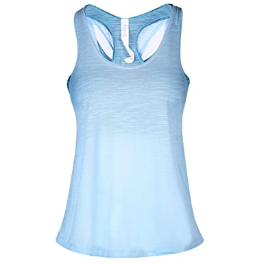 d72cedebc CamGo Womens Padded Camisole Built-in Bra Yoga Tanks Tops Sleeveless  Racerback Sports Shirts Gym