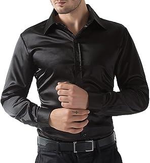 Silk black shirt greek t shirts for Mens silk shirts amazon