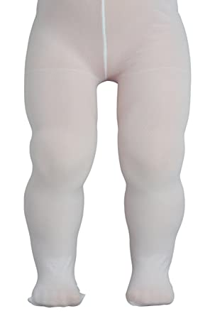 7bea5b536c77d Baby Tights White Semi-Opaque Lycra - White - 12-18 Months: Amazon.co.uk:  Clothing
