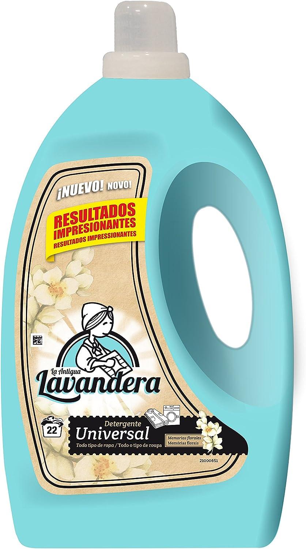 La Antigua Lavandera Detergente Líquido Universal, 22 Lavados - 4 ...