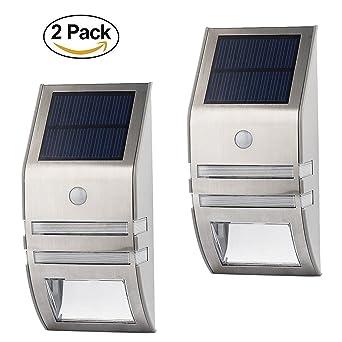 Led Solar Licht Solar Zaun Licht 5 Leds Für Wand Auf
