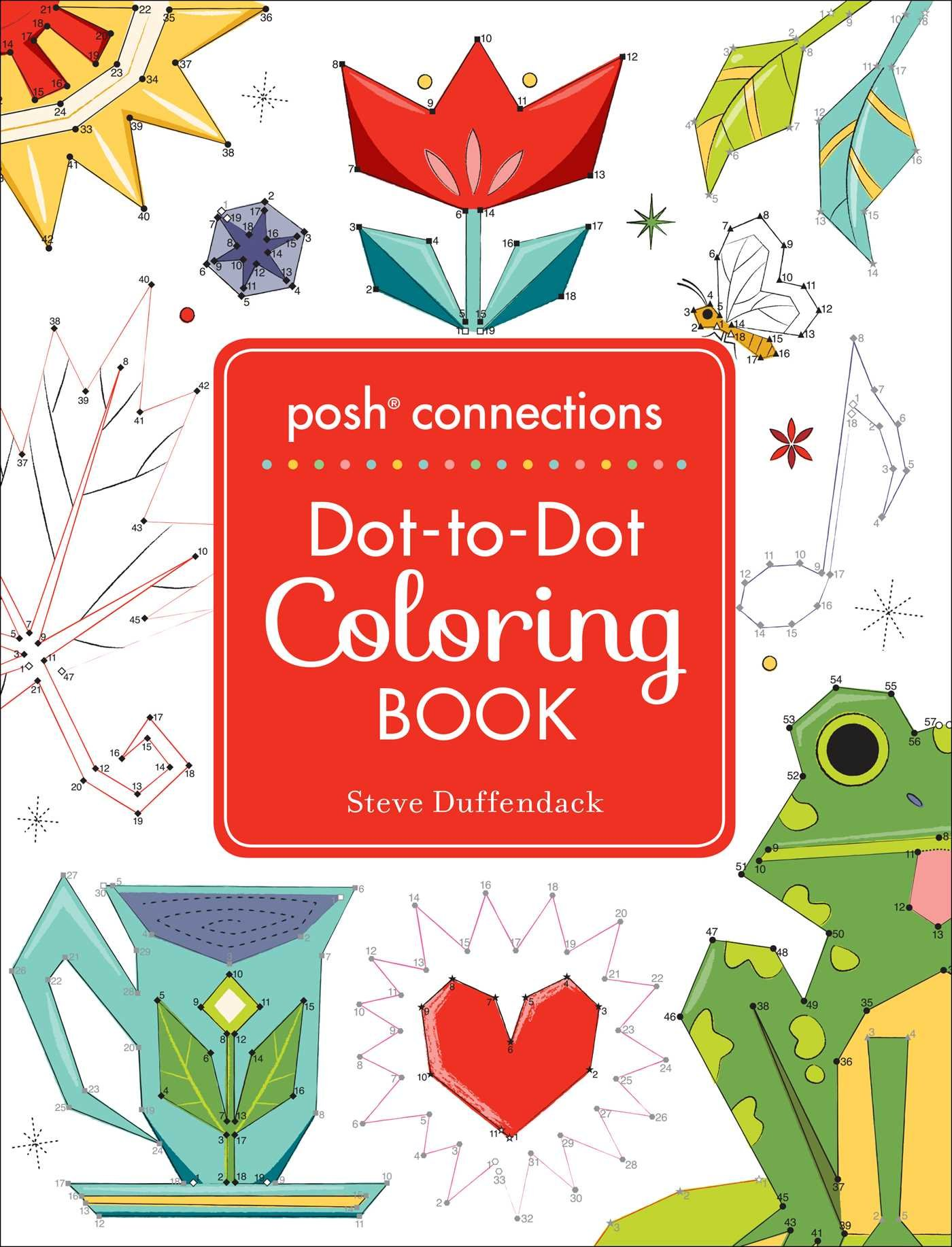 Download Posh Connections A Dot-to-Dot Coloring Book for Adults pdf epub