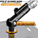 EverStrong T bar Row with Securing Knob Widest 360 Degree T-Row Bar | Heavy Duty Steel T-bar Row Machine | T-bar Row Handle Home Workout Equipment | Body Fitness Equipment T-Row Bar Attachment