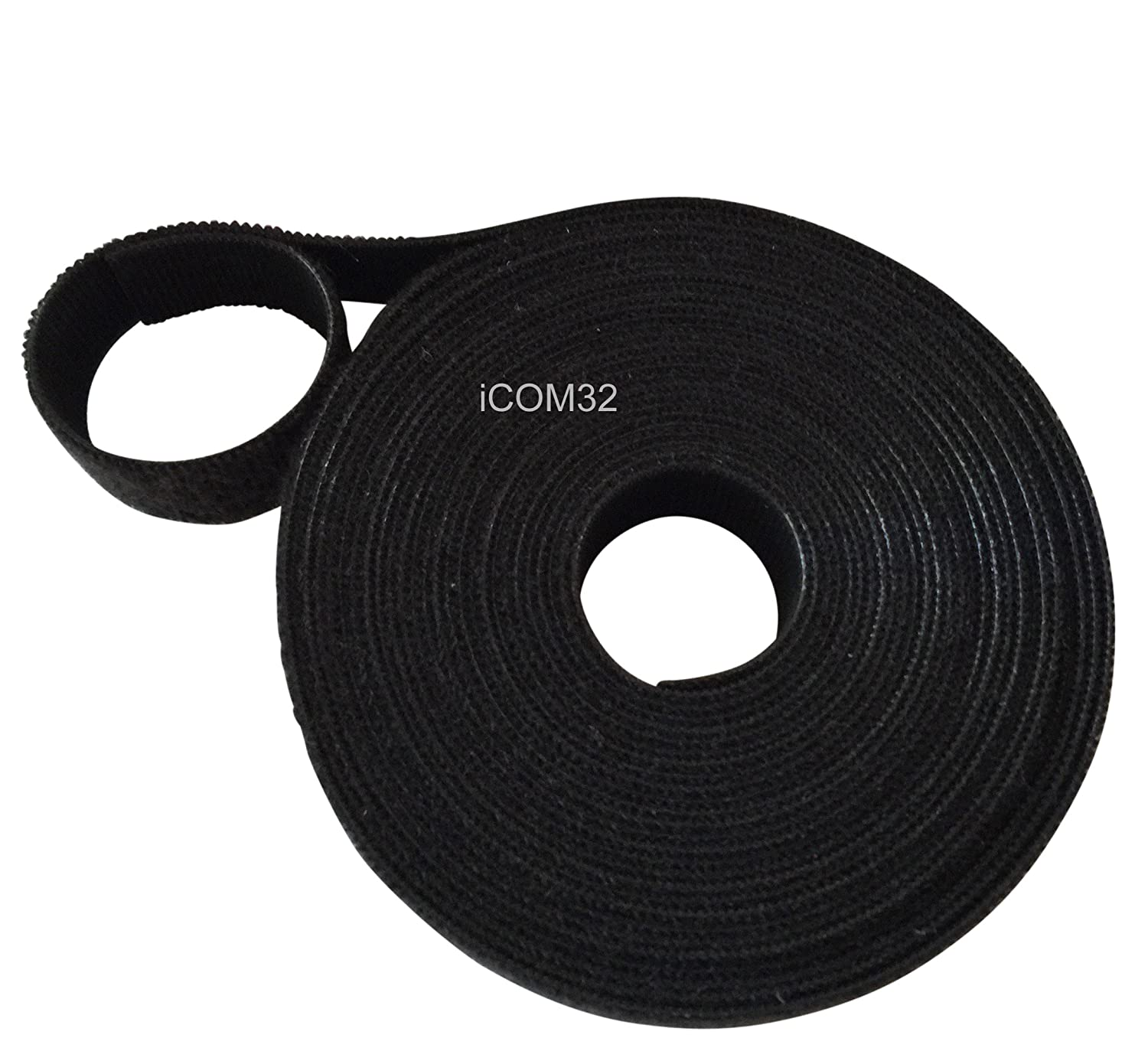 VELCRO® Brand Hook and loop ONE-WRAP® back to back Strapping in BLACK 2.5CM Wide X 50CM Long VELCRO®