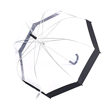 cc3617292cdb Rainbrace Transparent Bubble Umbrella Auto Open, Fashion Dome Shape ...