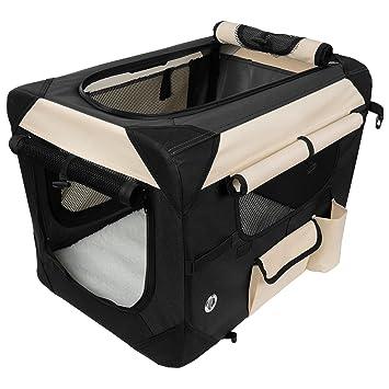 WOLTU #487 Bolsa de transporte con techo para perros y gatos - Transportín de viaje para el coche - Marrón, gris y negro - S-XXXXL: Amazon.es: Productos ...