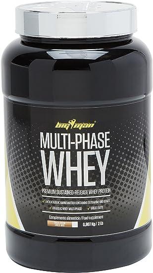 Big Man Nutrition Multi-Phase Whey Complejo de Proteínas, Chocolate - Nata - 910 gr