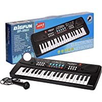 Toys Island 37 Key Piano Keyboard Toy for Kids with Mobile Charger Power Option and Recording- 2019 Latest Edition