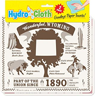 product image for Fiddler's Elbow Wonderful, Wyoming Hydro Cloth | Eco-Friendly Sponge Cloths | Reusable Swedish Dish Cloths | Set of 2 Printed Sponge Cloths | Replaces 30 Rolls of Paper Towels