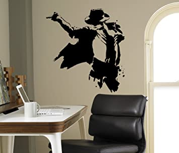 Michael Jackson Wall Decal King Of Pop Vinyl Sticker Home Decor Ideas  Living Room Interior Removable Part 34