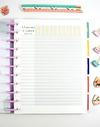 image about Free Happy Planner Inserts named Make 365 Huge Delighted Planner Clroom List Refills, Significant Trainer Planner Inserts