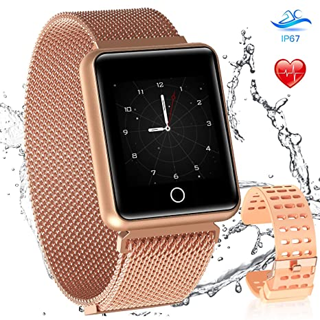 Amazon.com: AGPTEK Bluetooth Smartwatch for Women, Bluetooth ...