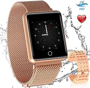 Amazon.com: AGPTEK - Reloj inteligente con Bluetooth para ...