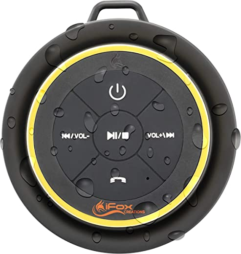 Bluetooth Shower Speaker - Waterproof - Wireless It Pairs Easily to All Your Bluetooth Devices - Phones, Tablets, Computer, Radio