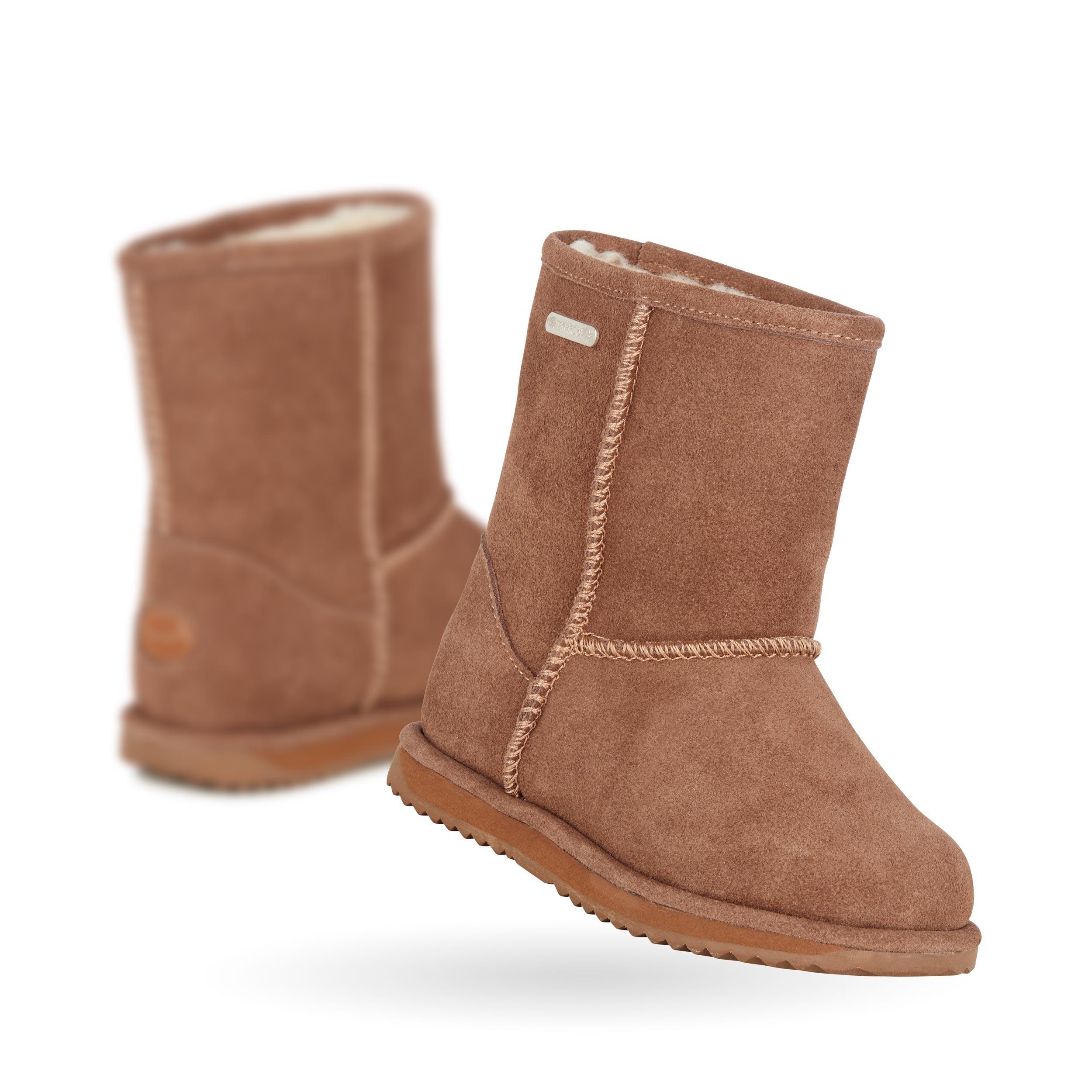 EMU Australia Brumby Lo Teens Kids Deluxe Wool Waterproof Boots in Oak Size 5