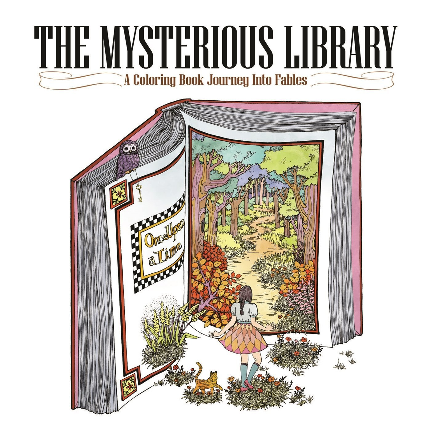 Mysterious Library Coloring Journey Fables product image