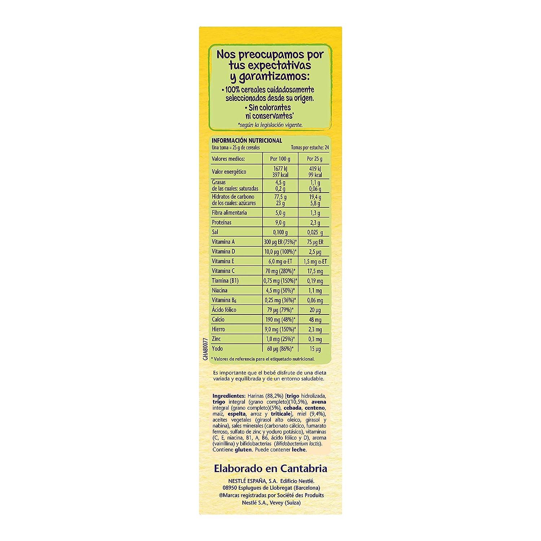 Nestlé - Papillas 8 Cereales Con Miel A Partir De 6 Meses 600 g: Amazon.es: Alimentación y bebidas