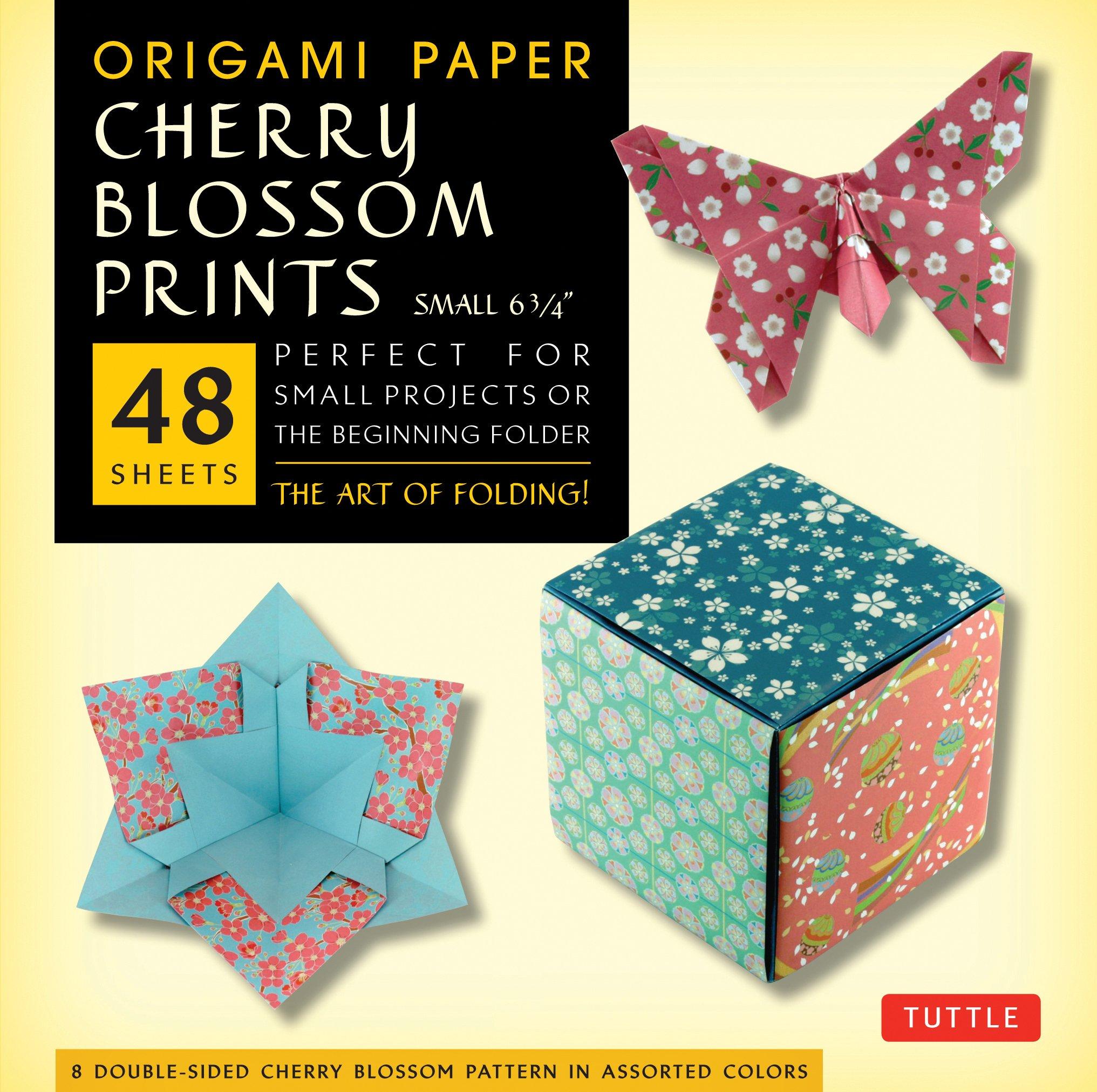 Amazon Com Origami Paper Cherry Blossom Prints Small 6 3 4 48