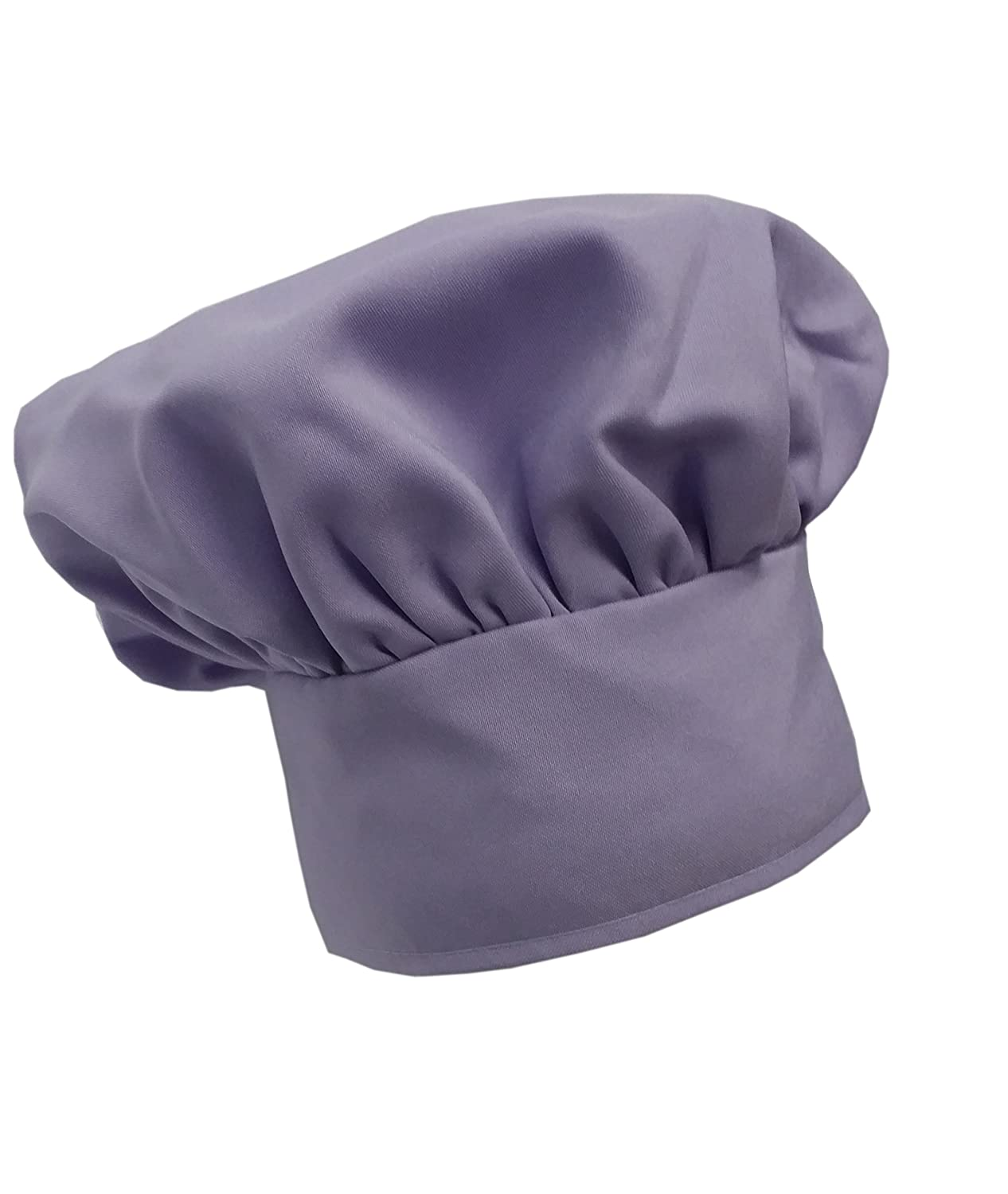 Chefskin Chef Mushroom Hat Adults Lavender Lilac Light Purple Adjustable CHEFSKIN MUSHROOM HAT