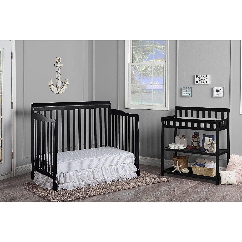 Amazon.com : Cunas Para Bebes Cama Full Para Niño Niñas 5 En 1 Convertible Madera Solida Black : Baby