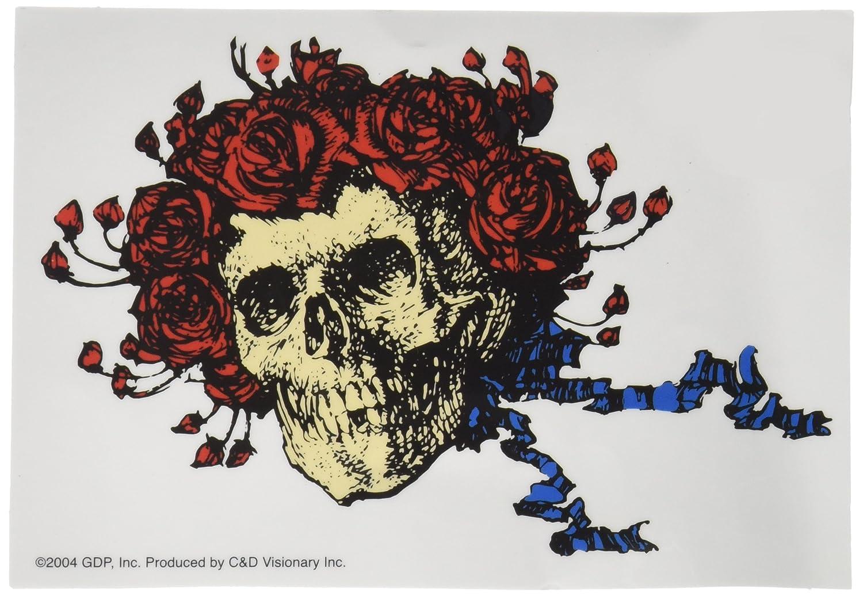 5 x 5 Long Lasting Sticker Pegatina DECAL Artwork Officially Licensed Original GDP Inc. GRATEFUL DEAD Skull & Roses Logo