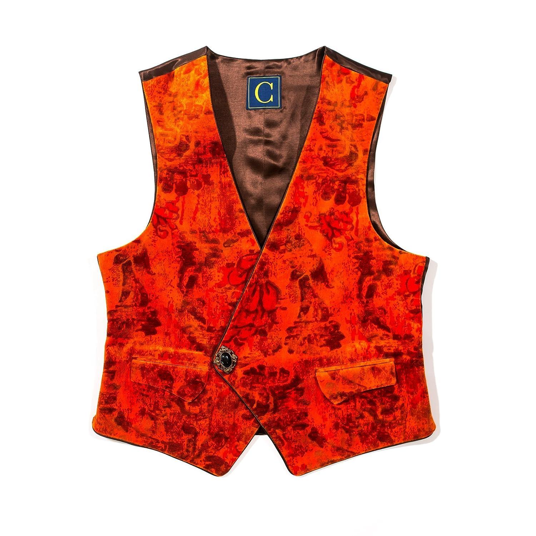 Chiragh Apparel Devonshire Mens Asymmetrical V-Neck Tailored Fit Brooch Closure Dress Casual Vest Waistcoat