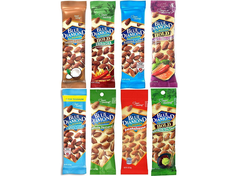 Blue Diamond Variety Almonds  Bundle, Pack of 8