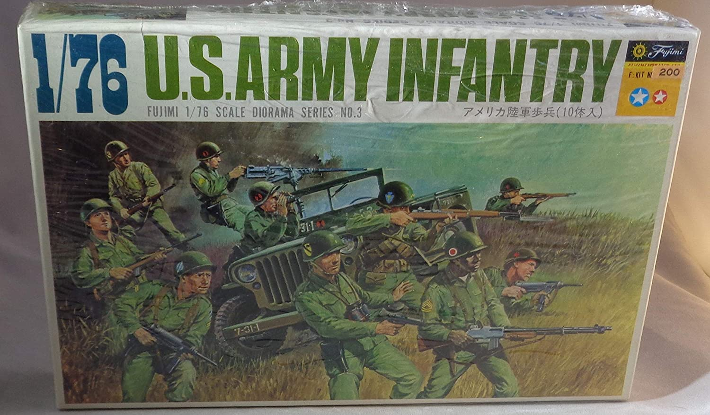 Fujimi US Army Infantry Set 1//72 Plastic Model
