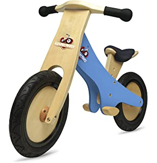 Kobe Wooden Balance Bike Doggy Blue And Green Wood