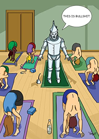 Tin Man Yoga Birthday Greeting Card Amazoncouk Office Products
