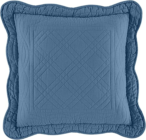 BrylaneHome Florence 16 Square Pillow, Smoky Blue