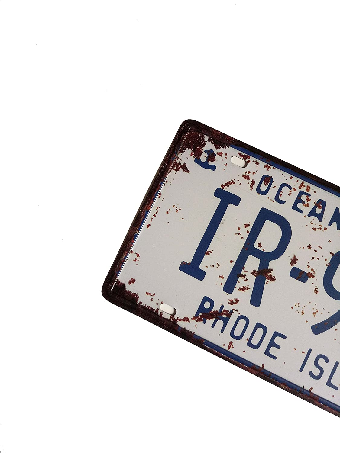 United States,Retro Vintage Auto License Plate Tin Sign Embossed Tag Size Home Pub Bar Decor 6 X 12 China Erlood-717 ERLOOD Rhode Island IR-945 Ocean State