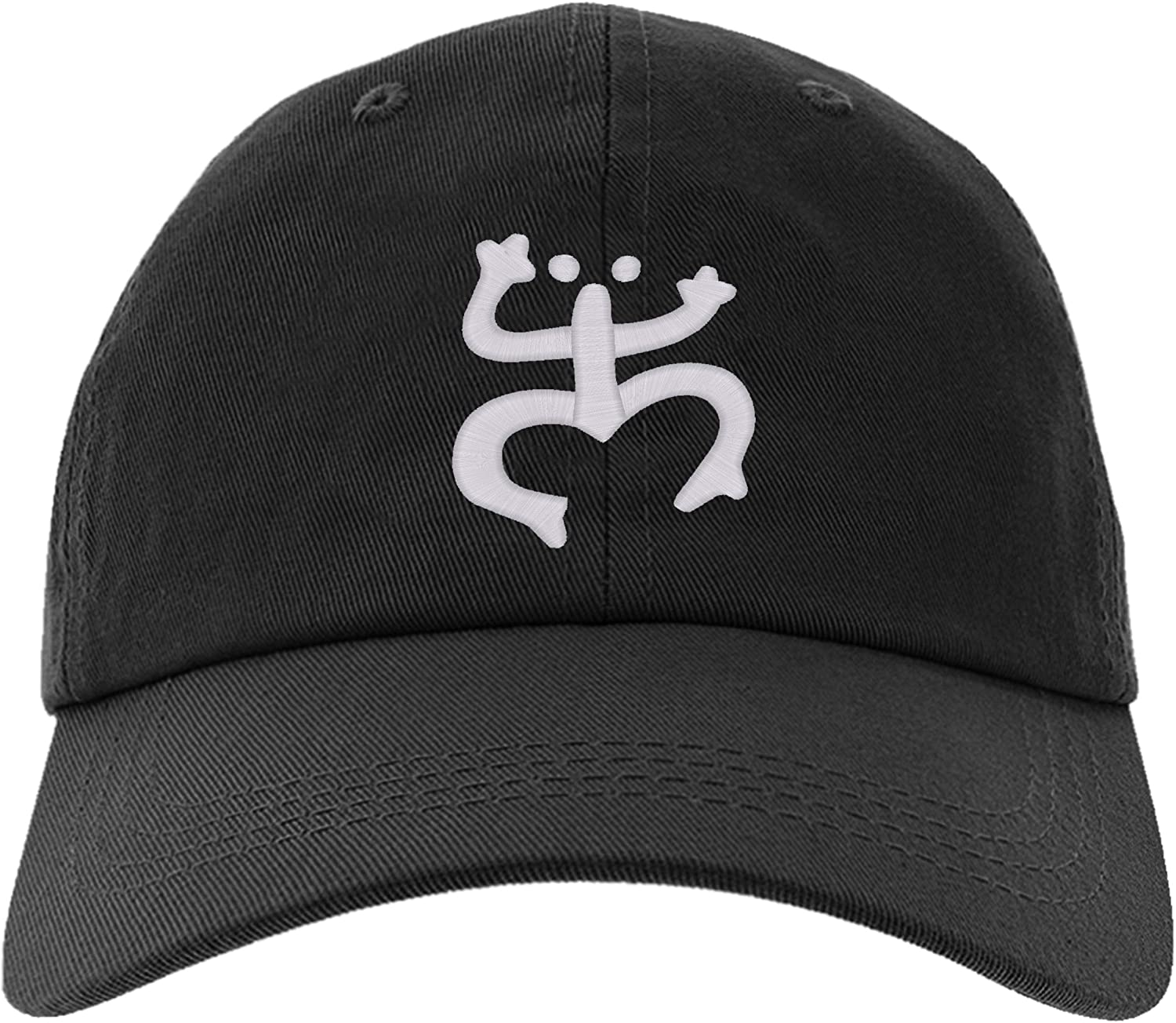Embroidered Puerto Rico Taino Frog Cap, Adjustable Baseball Hat