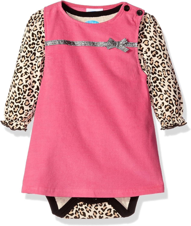 Bon Bebe Baby Girls 2 Piece Corduroy Jumper Set with Longsleeve Lap Shoulder Bodysuit-Infant