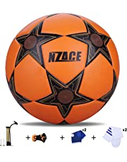 Footballs Outdoor Sports Practice Pro Soccer Ball Size 5 Top Level Performance Includes Pump and Carrying Net