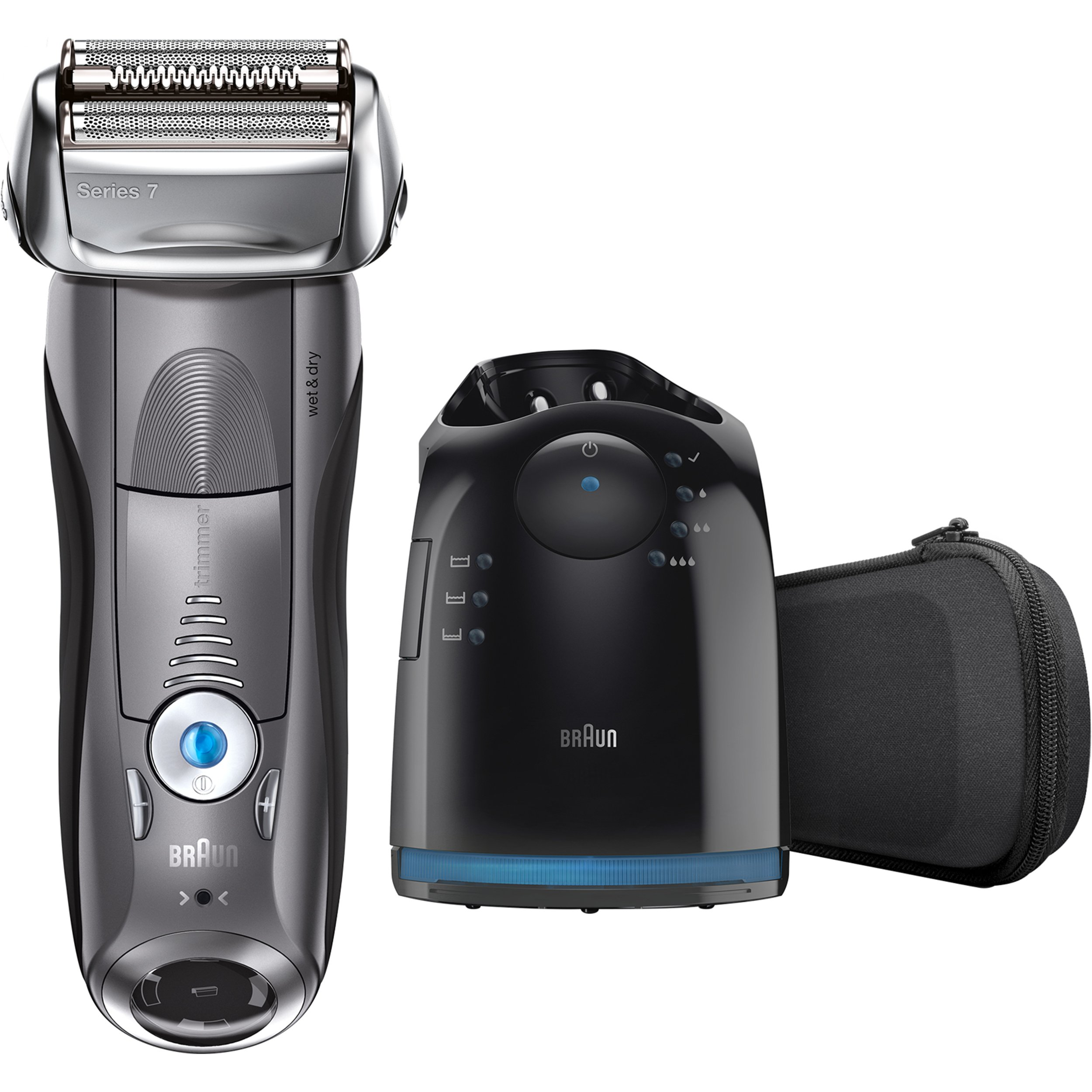 Braun Electric Shaver, Series 7 790cc Men's Electric Foil Shaver / Electric Razor, with Clean & Charge Station, Cordless