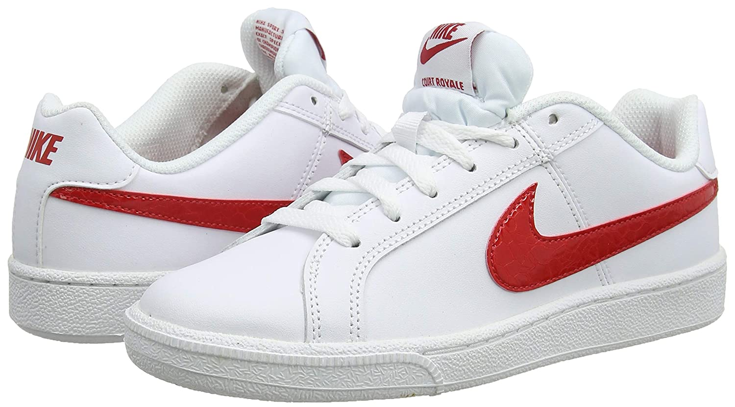 pretty nice 106ae ff601 Nike WMNS Court Royale, Sneakers Basses Femme, Multicolore University Red White  114, 44.5 EU  Amazon.fr  Chaussures et Sacs