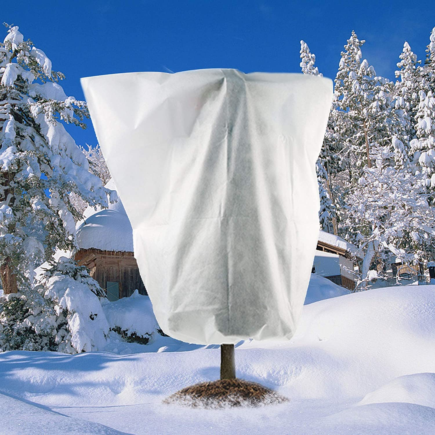 84 x 72//7 Ft x 6 Ft Frost Winter Protection Tree Wrap Bag Cold Weather Protection Cloth Cover Outdoor for Growing Season Extension and Freezing Protection Meekear Freeze Protection Plant Cover