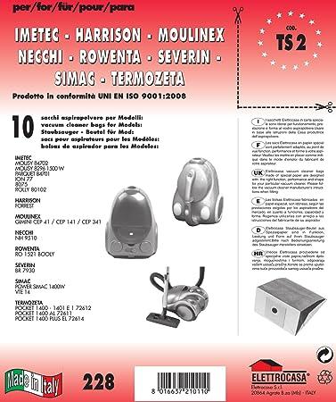 2 FILTRO MISTER VAC 10 Sacchetto per aspirapolvere dustbags for you MV 603 Sacchetto per la polvere