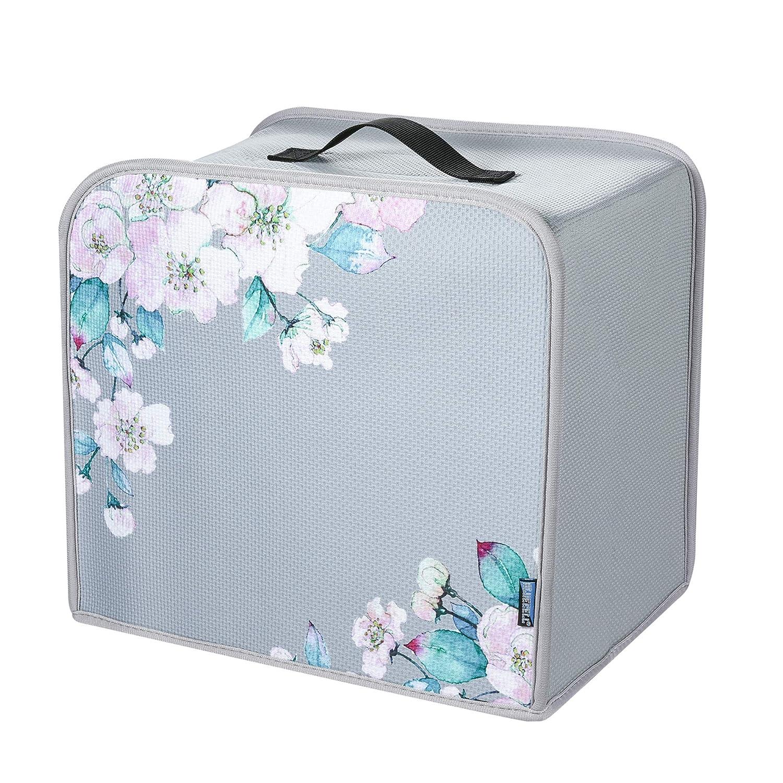 Bluecell Four Slice Toaster Dust Cover Home Appliance Toaster Neoprene Dust Cover Fingerprint Protection (Flower-1)