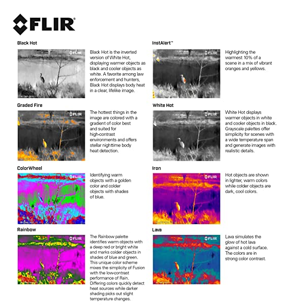 FLIR Scout TK Handheld Thermal Imager Full Range of Color palate options
