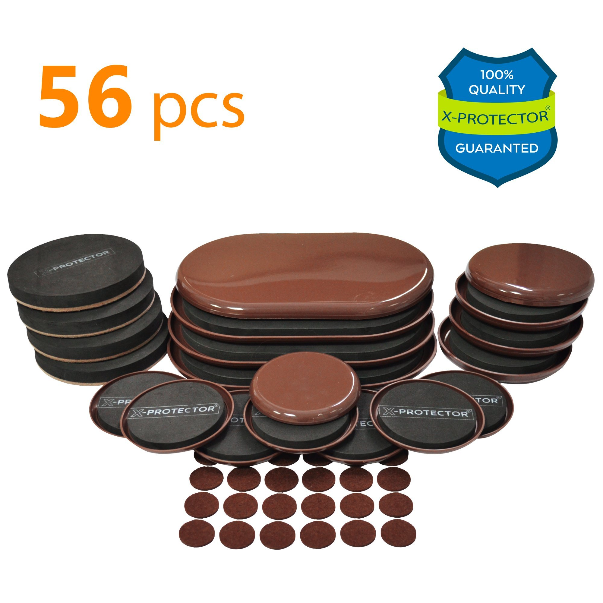Ordinaire Furniture Sliders X PROTECTOR GIANT PACK 56 PCS: 20 Pcs Furniture Sliders  For Carpet