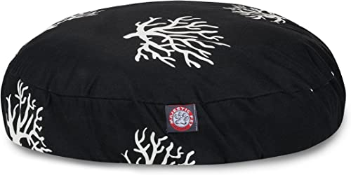 Black Coral Small Round Indoor Outdoor Pet Dog Bed With Removable Washable Cover By Majestic Pet Products