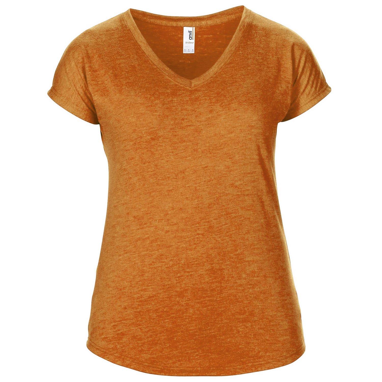 Anvil Womens/Ladies Short Sleeve Tri-Blend V-Neck T-Shirt